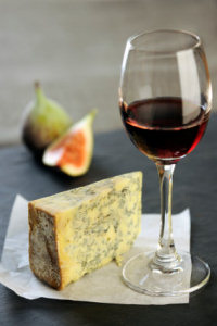 Stilton cheese and Port wine