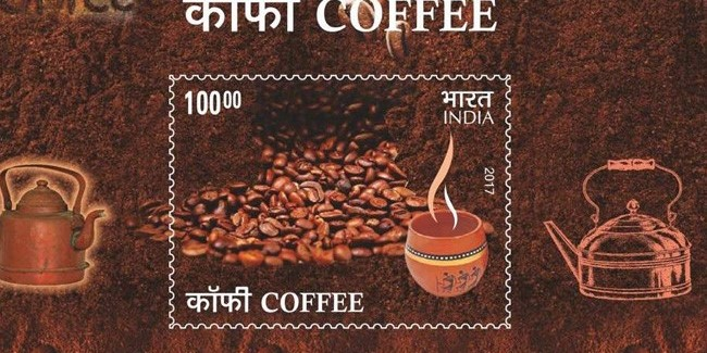 India Post in collaboration with Coffee Board launched the new Coffee Flavoured Stamps