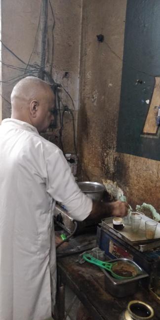 Raju bhai making tea