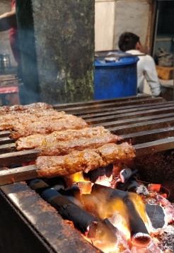 Seekh Kebab in Old Delhi